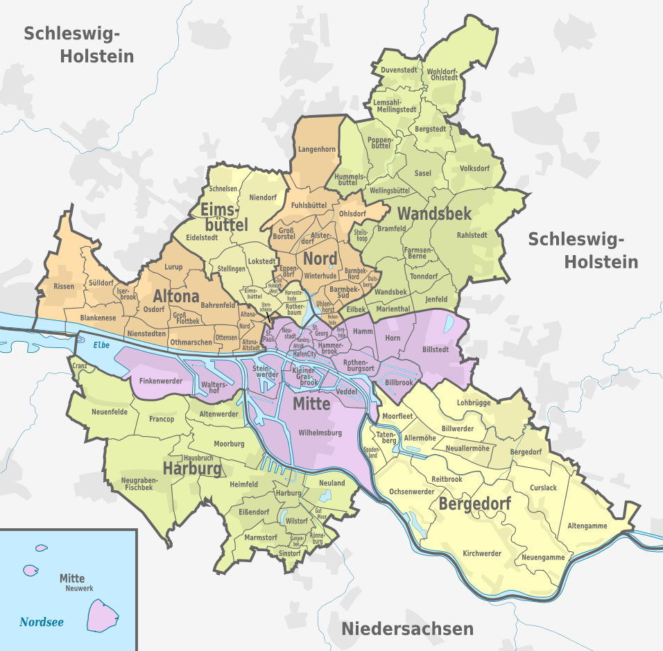 Hamburg Bezirke & Stadtteile